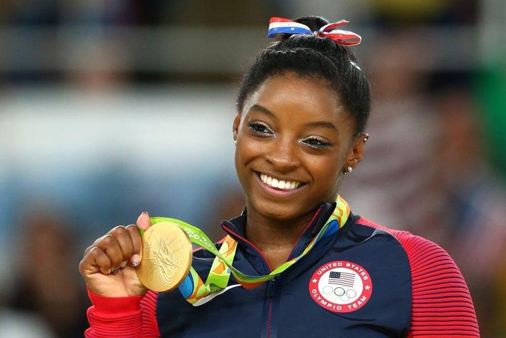 U.S. gymnast Simone Biles defied gravity.