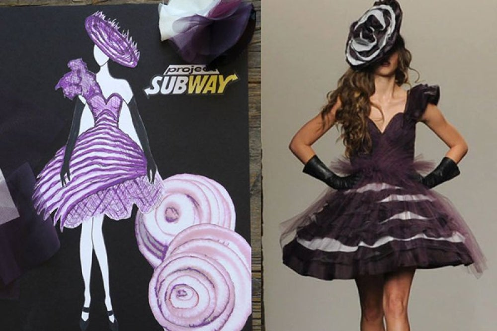 Subway hosted a fashion show.