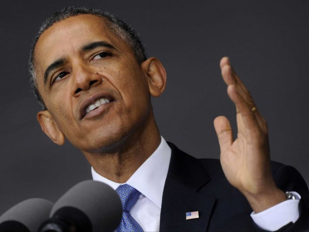 President Barack Obama scooped ice cream.