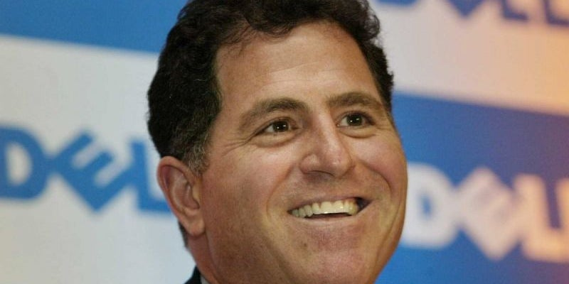 Michael Dell washed dishes.