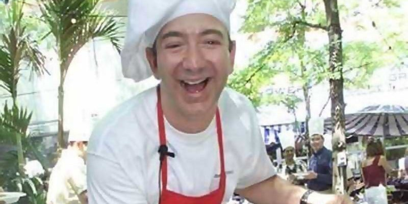 Jeff Bezos worked the grill at McDonald's.