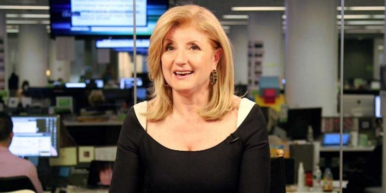Arianna Huffington: Don't work too hard.