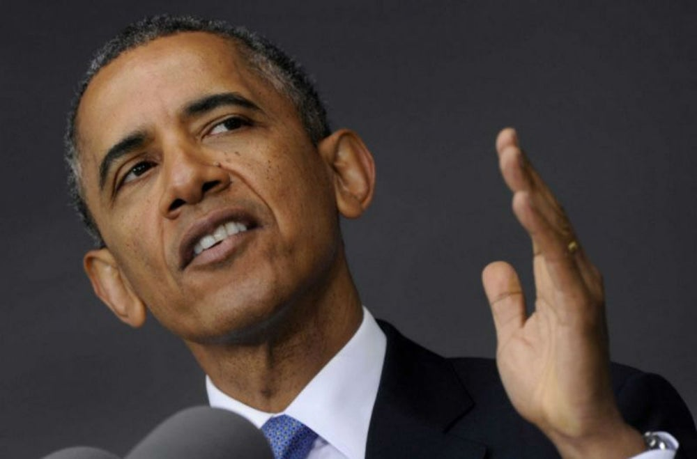 1. El presidente Barack Obama servía helado