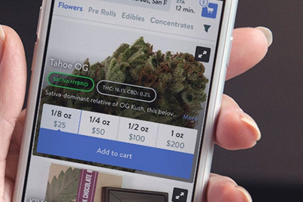 On-demand medical marijuana delivery service