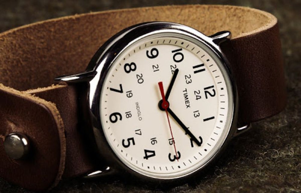 Timex Weekender With Leather Band