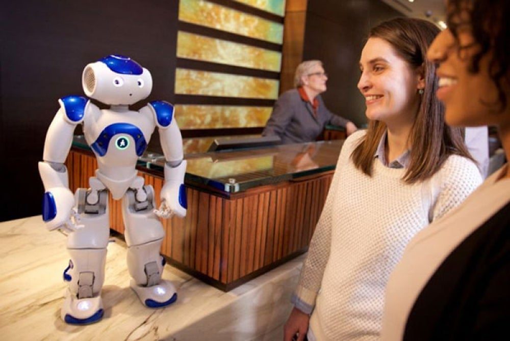 Hilton Hotel has a robot named Connie as a concierge.