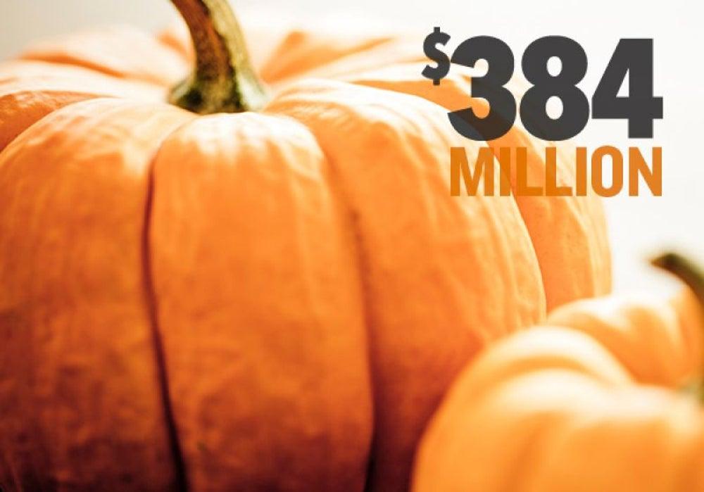 $384 million