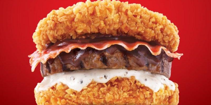 Zinger Double Down, KFC, Korea