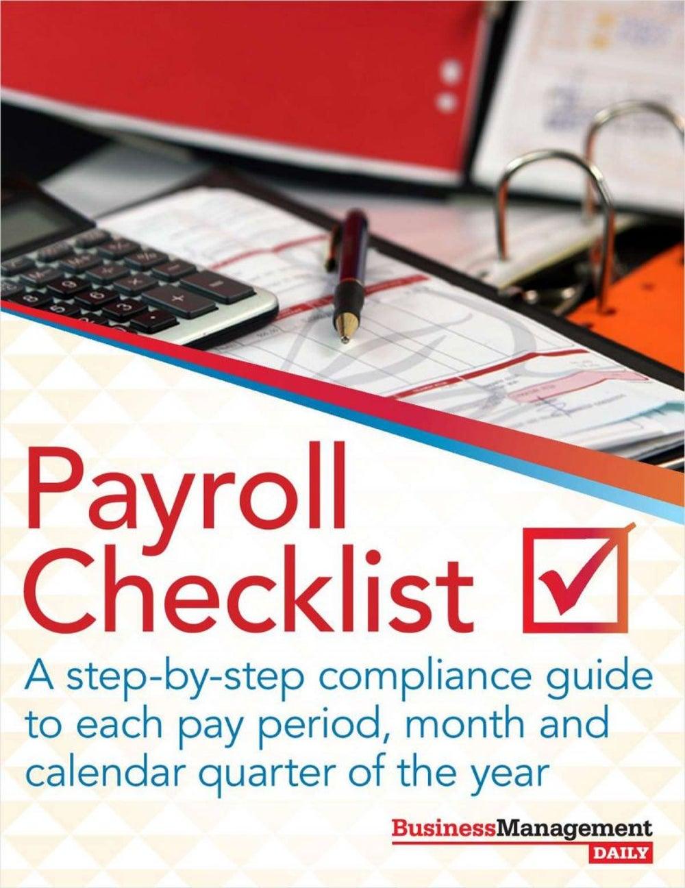 """The Payroll Checklist"""