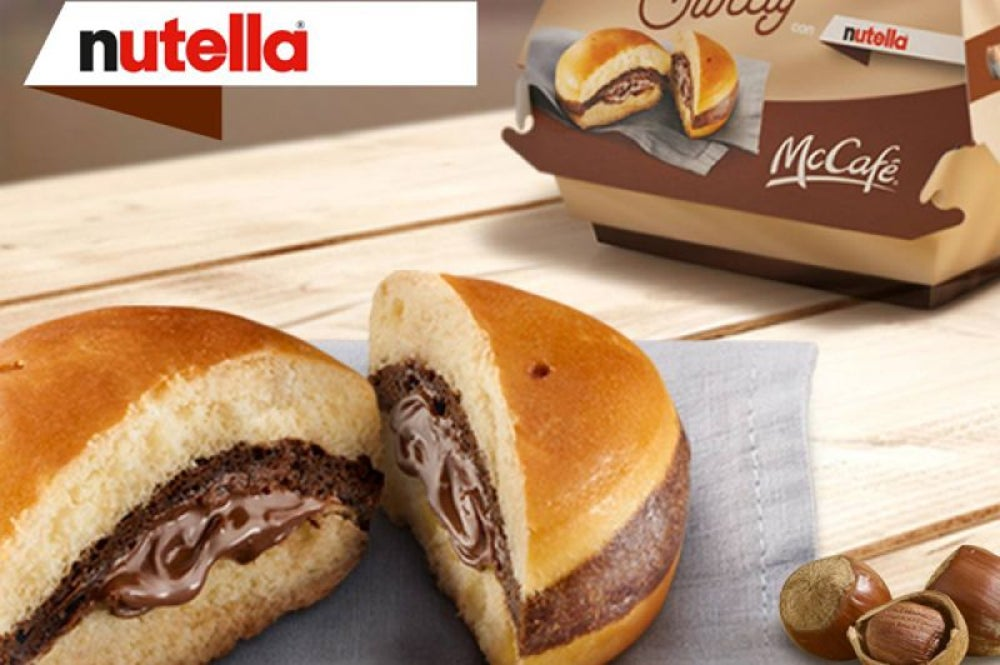 "Nutella ""burger,"" McDonald's, Italy"