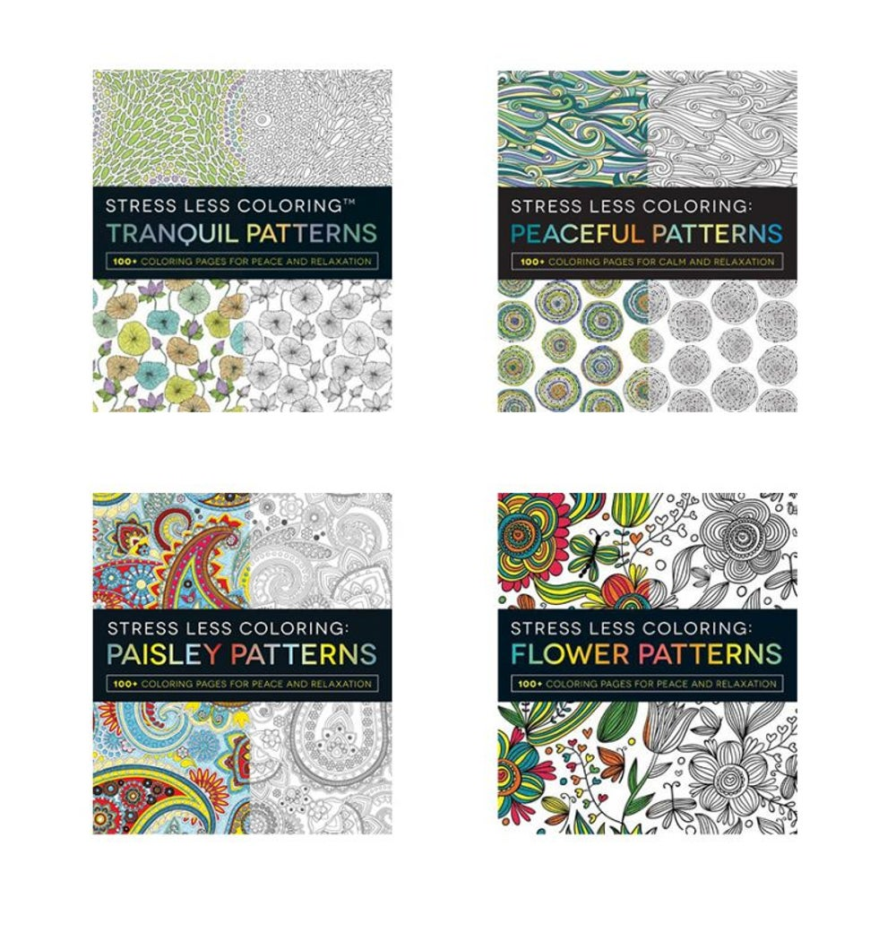 Adams Media Stress Less Coloring Book