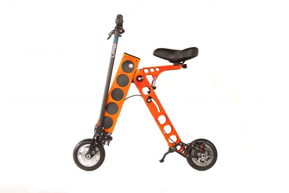 Urb-E's foldable innovative scooter