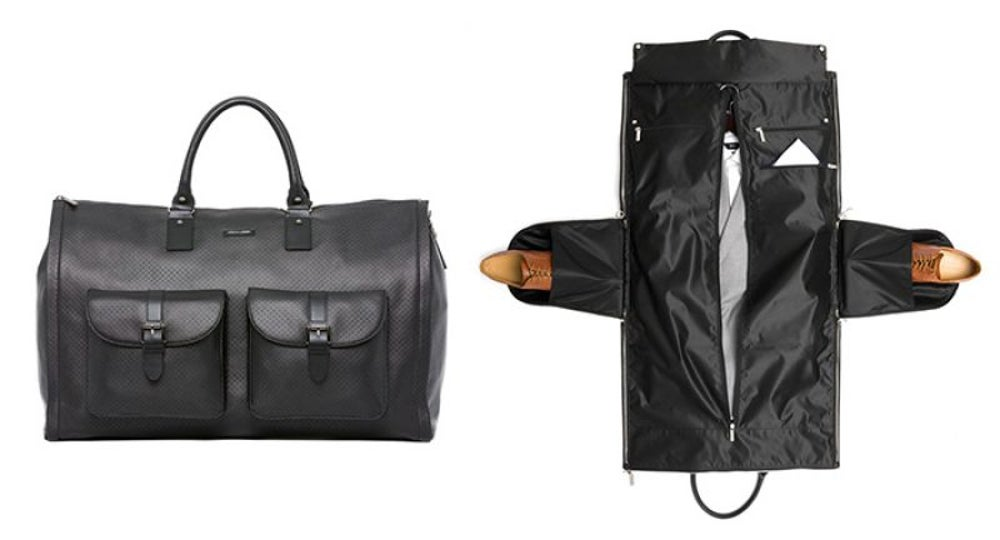 Hook and Albert's luxury garment weekender bag
