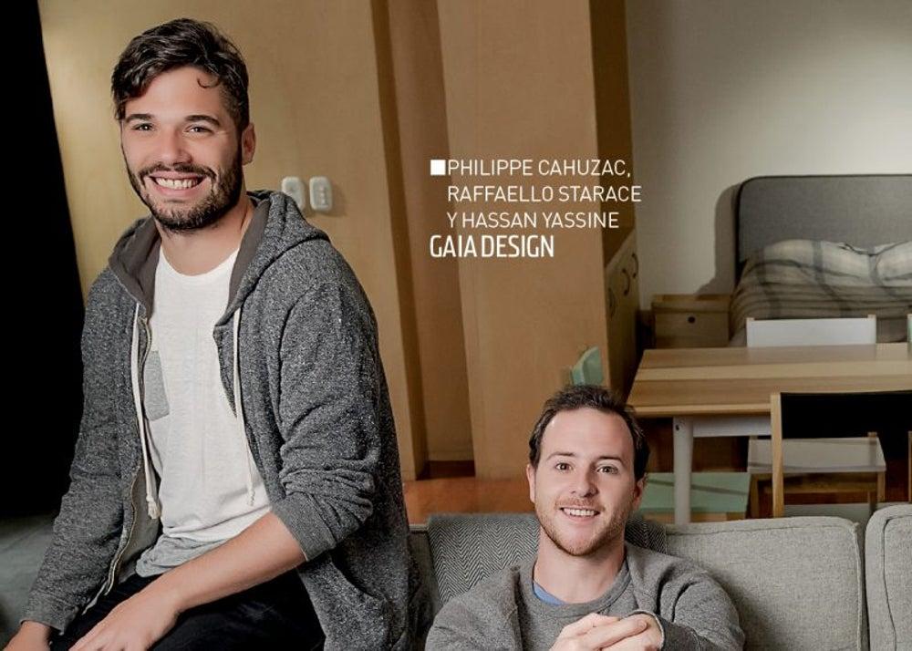 Philippe Cahuzac, Raffaello Starace y Hassan Yassine