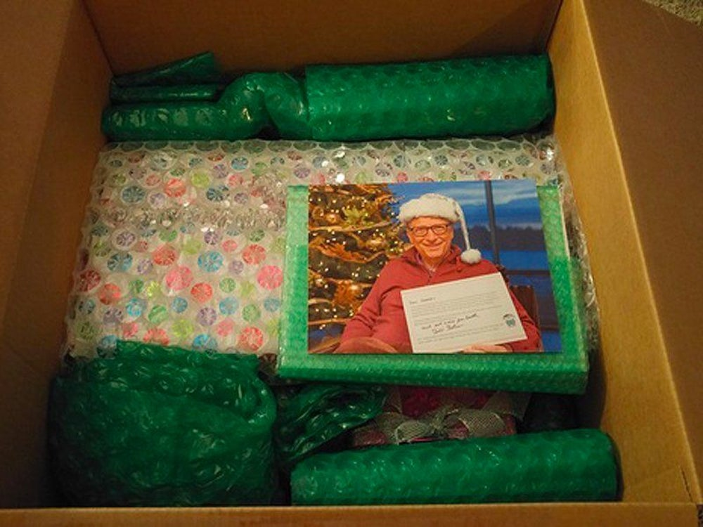 """She opened the box. """"I got everything out and laid it out all nice, and there was glitter EVERYWHERE."""""""