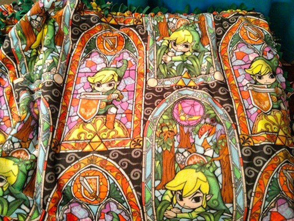 ... a Zelda-themed blanket ...