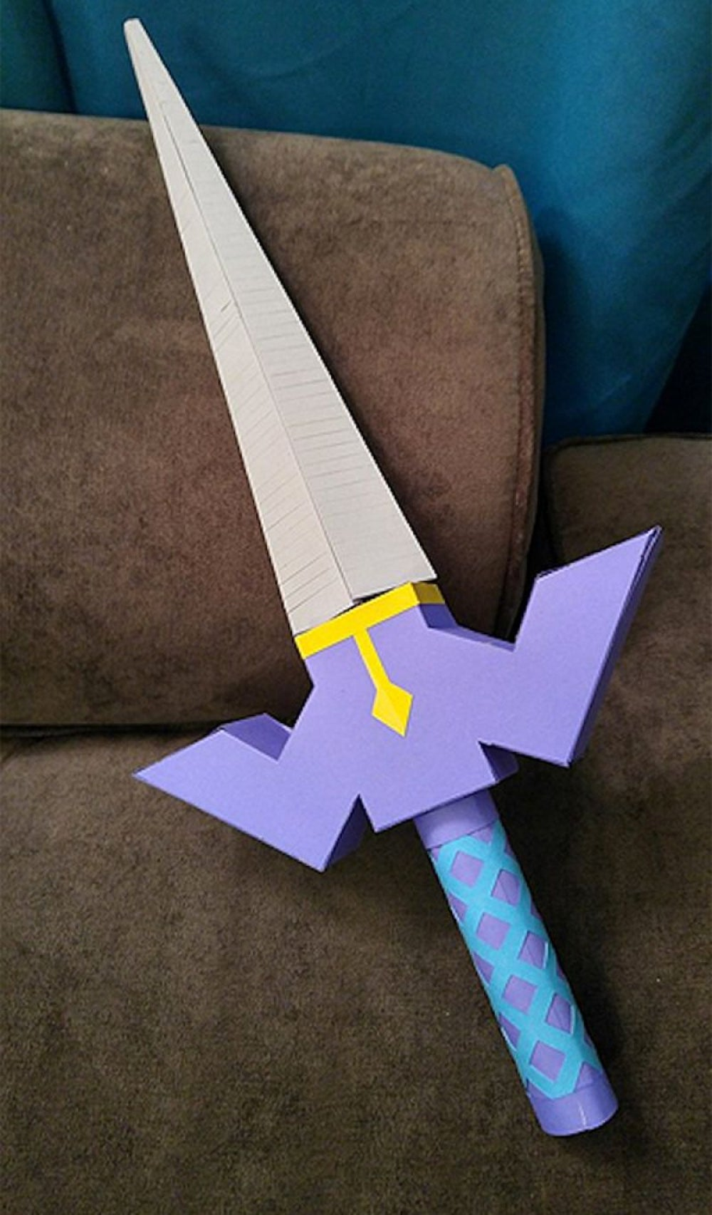"""He got her a paper replica of the Master Sword from """"Skyward Sword."""""""