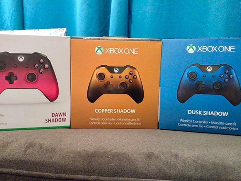 She unwrapped three special-edition wireless Xbox One controllers, which made her look at the biggest box in the bunch ...