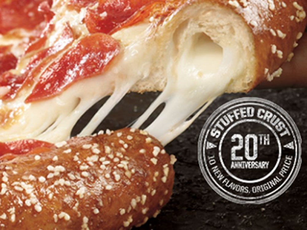 Pizza Hut's bacon-stuffed crust pizza