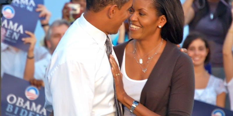 """""""No sería el hombre que soy hoy sin la mujer que aceptó casarse conmigo hace 20 años. Lo voy a decir en público: Michelle, nunca te he querido tanto como en este momento"""""""