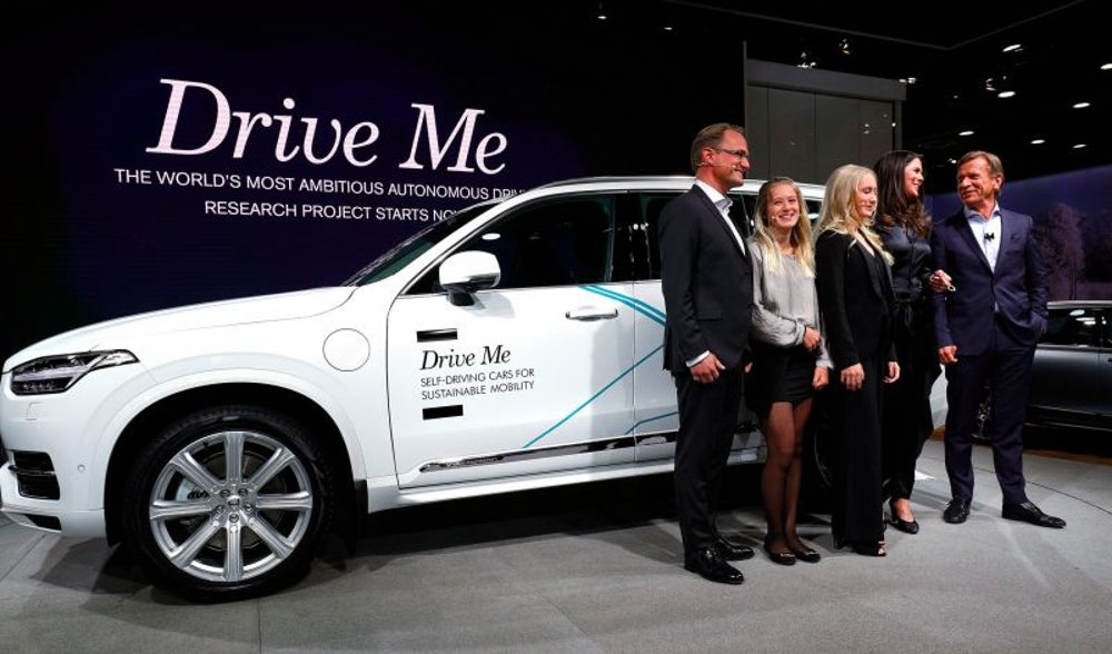 3. Volvo has hired a real family to test its self-driving car.