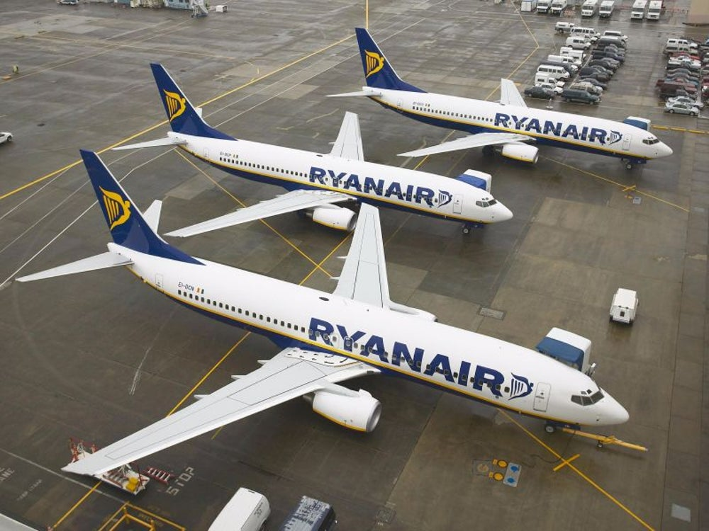 Irish airline Ryanair offers low fares and political jabs.