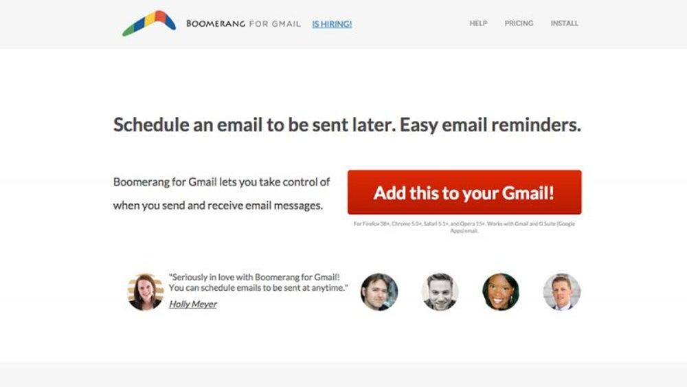 Schedule emails in advance.
