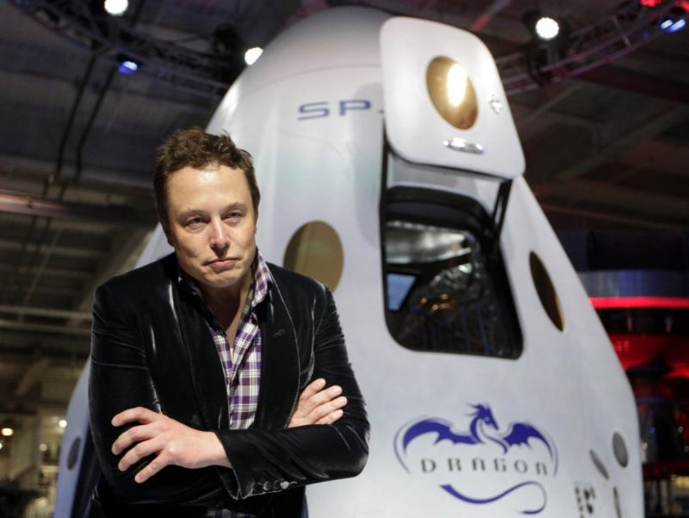 Musk has said he wants to begin sending humans to Mars by 2024.