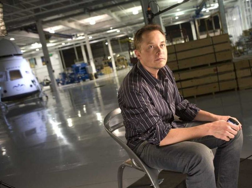 "The Tesla CEO also said humans were ""already a cyborg."""