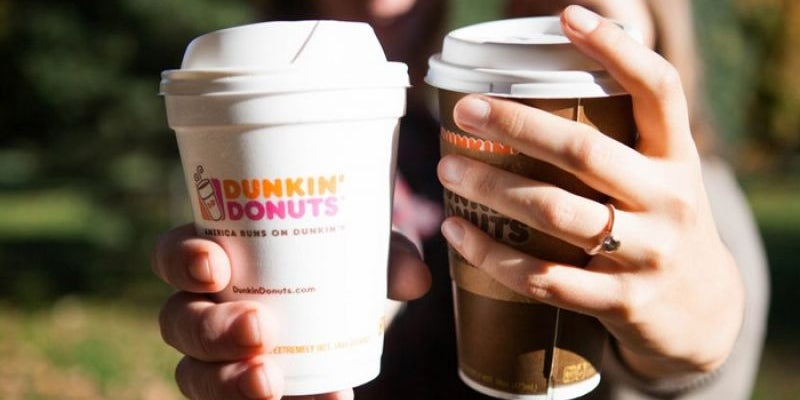 Enter Dunkin' Donuts's love contest.