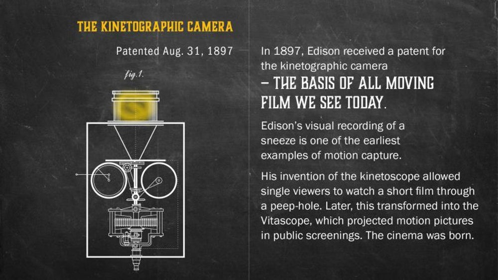 Fact: We can thank Edison for the modern movie.