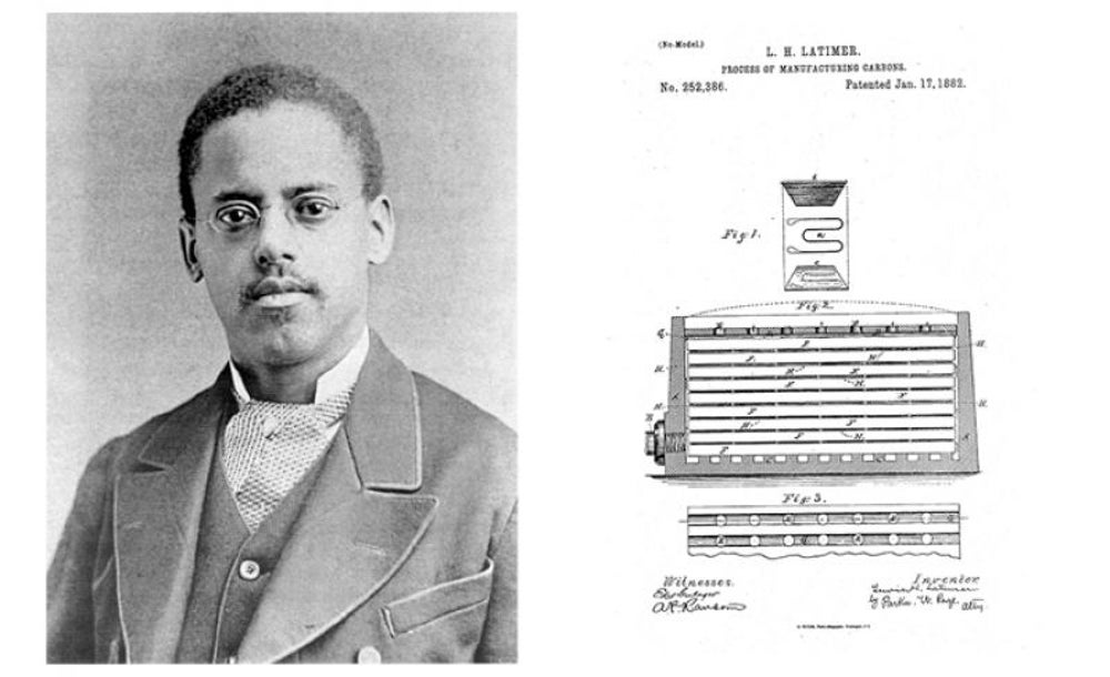 Lewis Howard Latimer, contributed to the inventions of the telephone and the light bulb