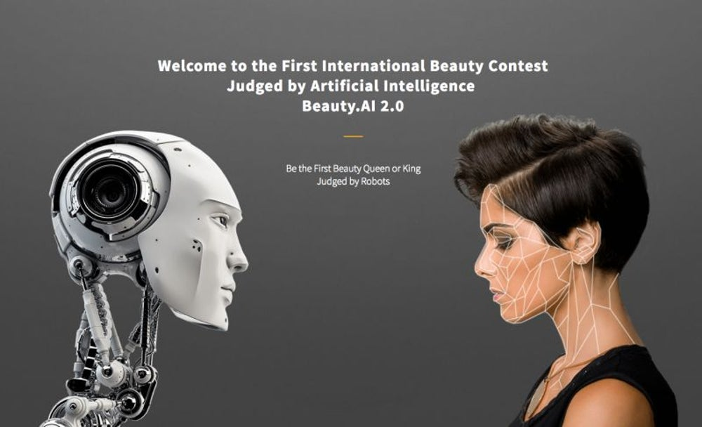 Robots judge a beauty contest and don't select women with dark skin.