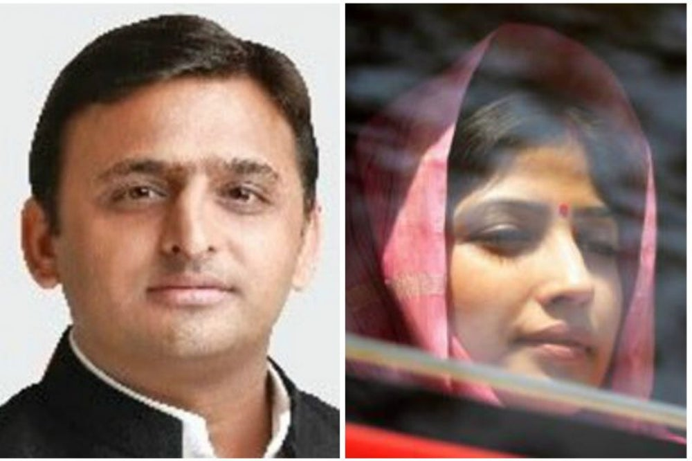 Akhilesh Yadav and Dimple Yadav