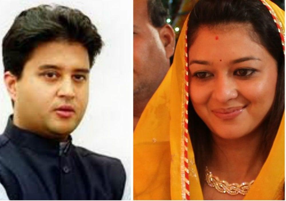 Jyotiraditya Scindia and Priyadarshini Scindia