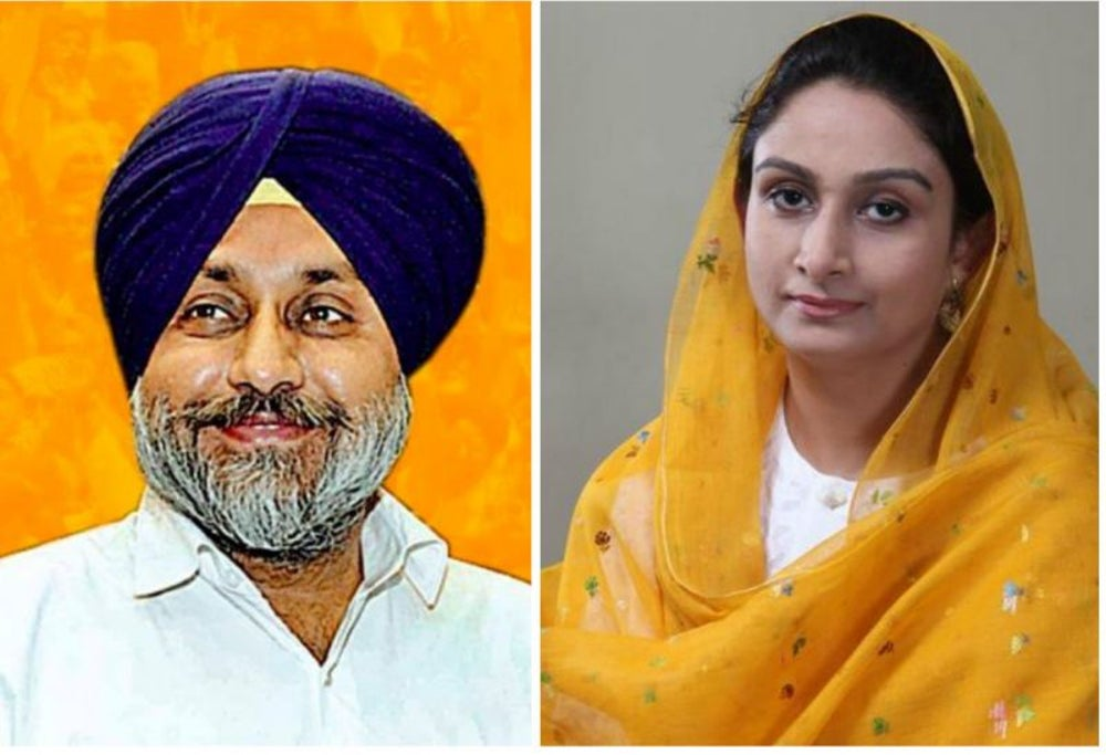 Sukhbir Singh Badal and Harsimrat Kaur Badal