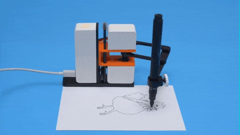 Little robot drawing arm