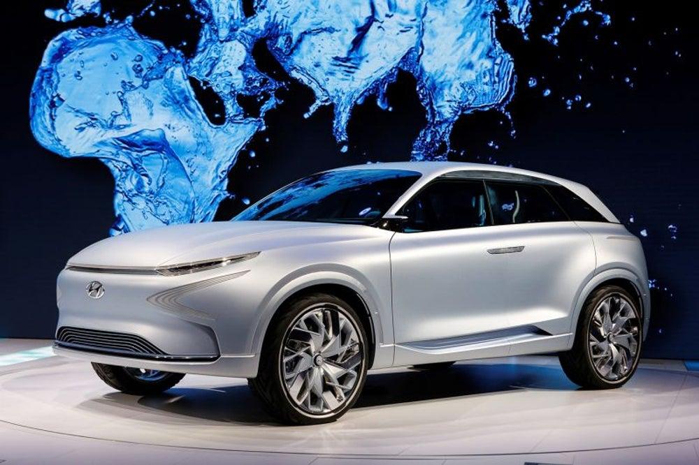 Hyundai's reveals its environmentally-conscious concept car, the FE Concept.
