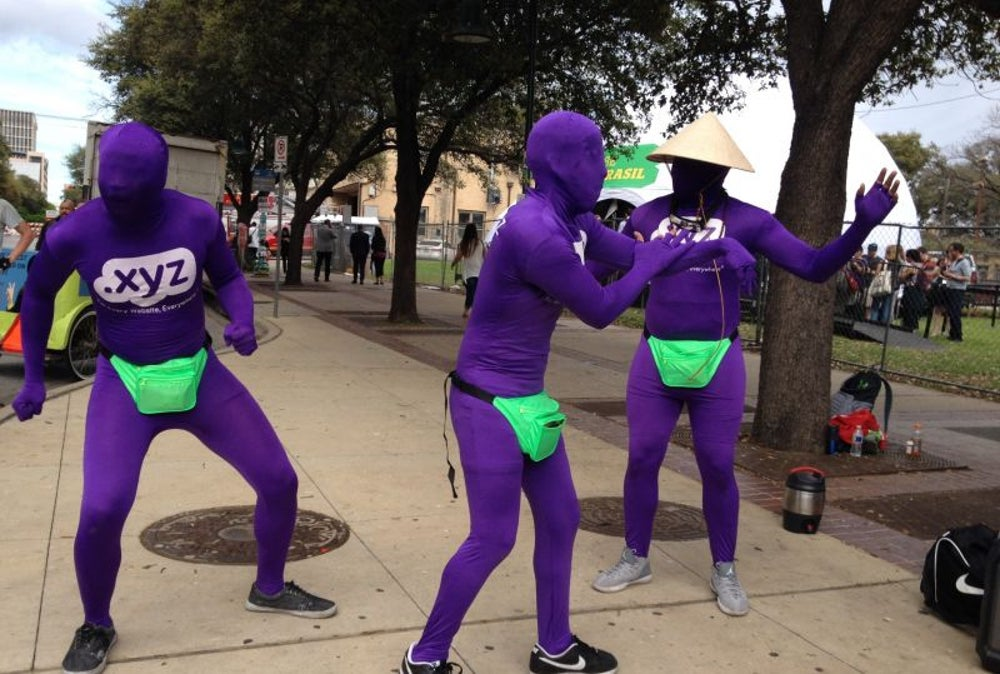 The purple people.
