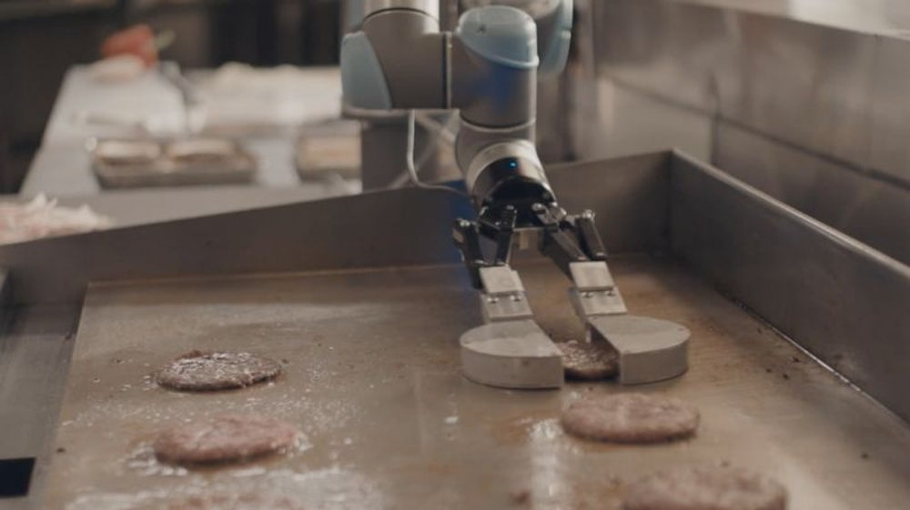 "Fast food chain CaliBurger's robot chef, ""Flippy"""