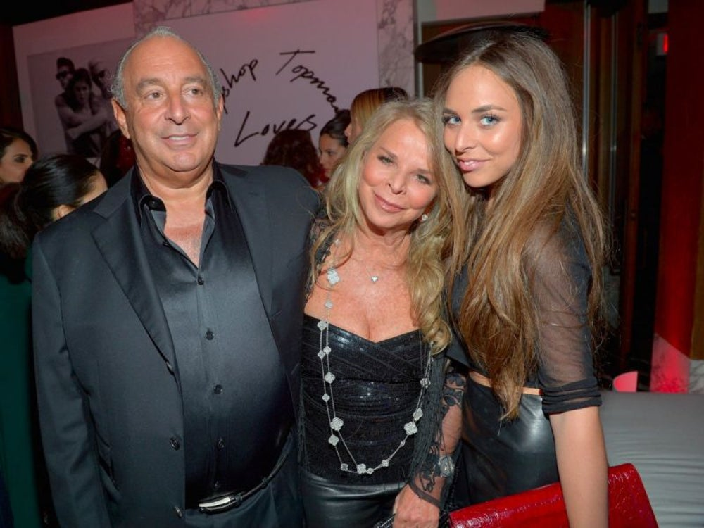 Tina Green and husband Philip Green -- net worth $5.5 billion