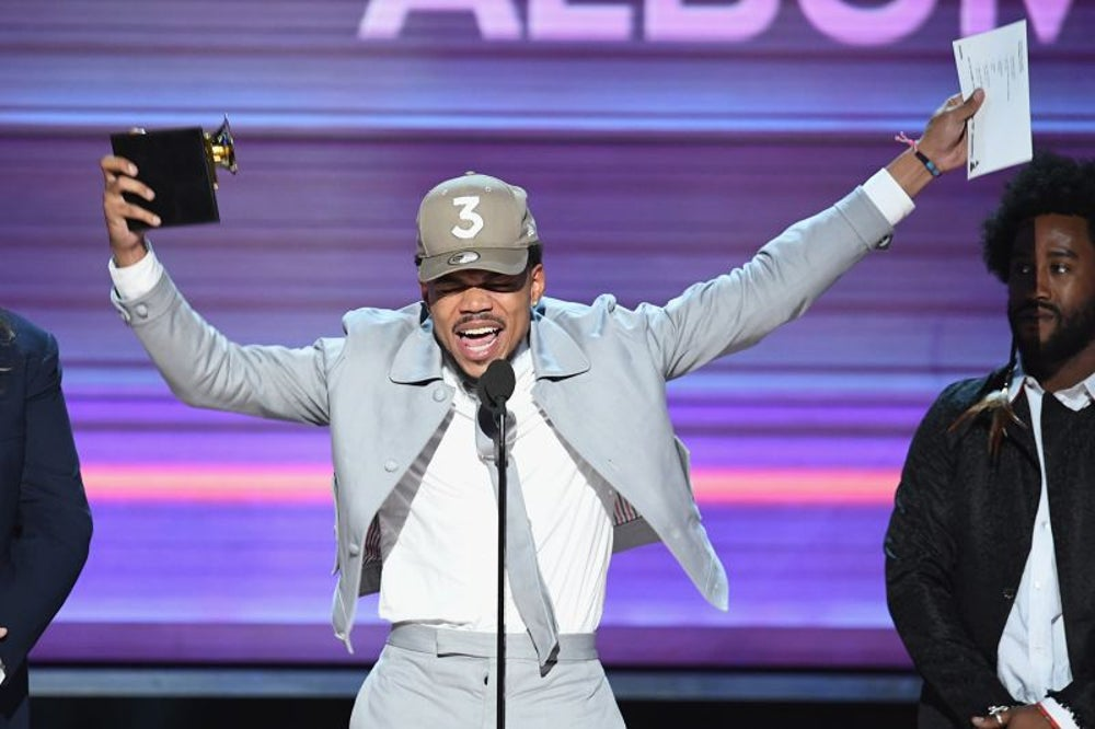 A 23-year-old rapper with no record label and a streaming-only album won three Grammy awards.
