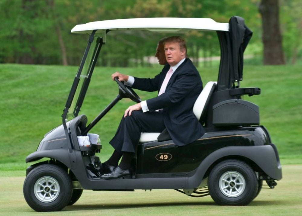 News alert from Fox News says that Trump spent his weekend in the White House, but he was really on a golf vacation.