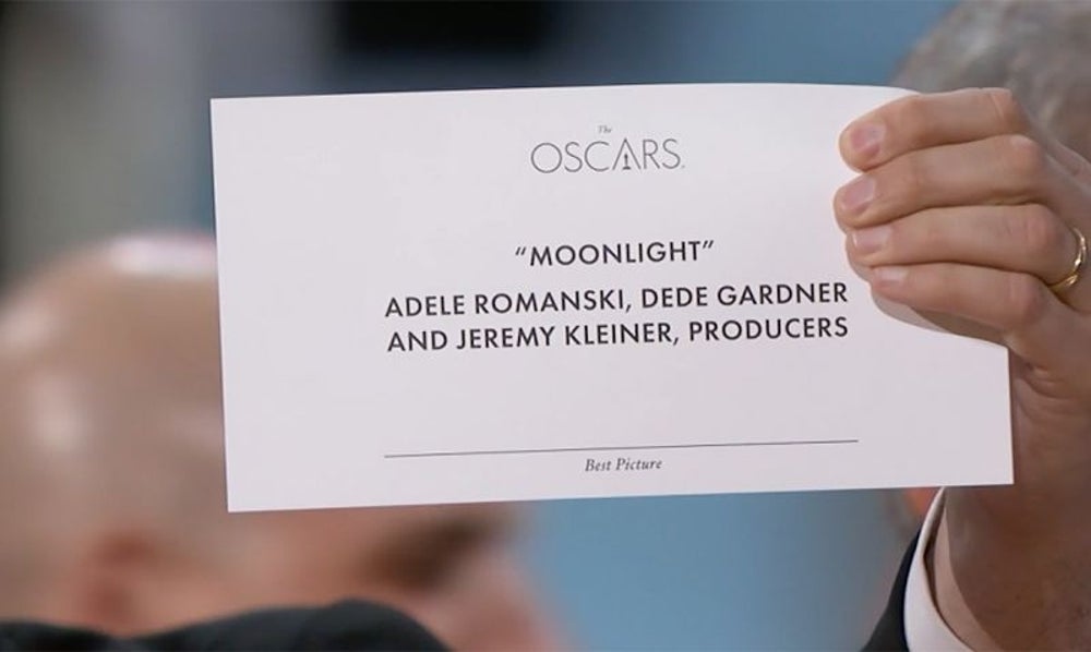 The Oscars Best Picture mix up.
