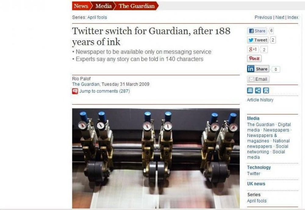 The Guardian Goes All Tweet (2009)