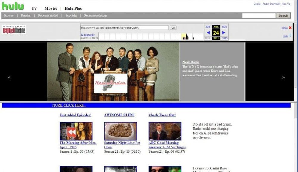 The Hulu of 1996 (in 2011)
