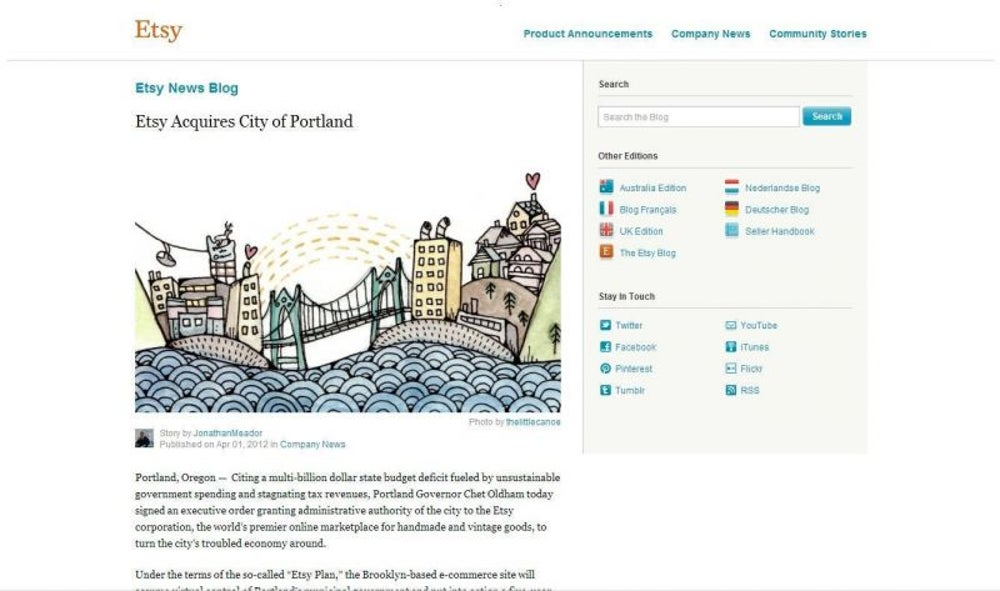 Etsy Acquires City of Portland (2012)