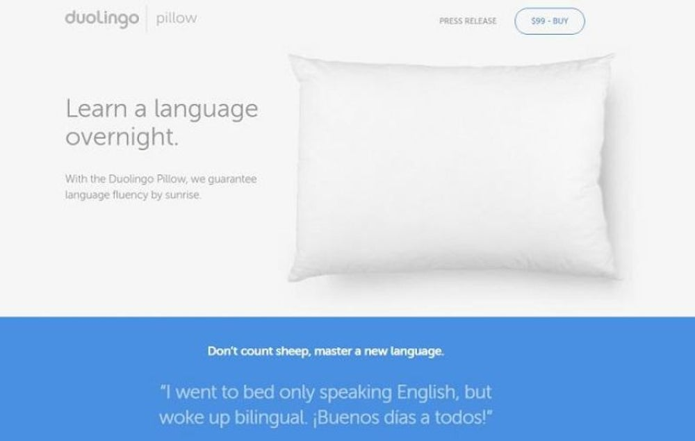 Duolingo Pillow (2016)