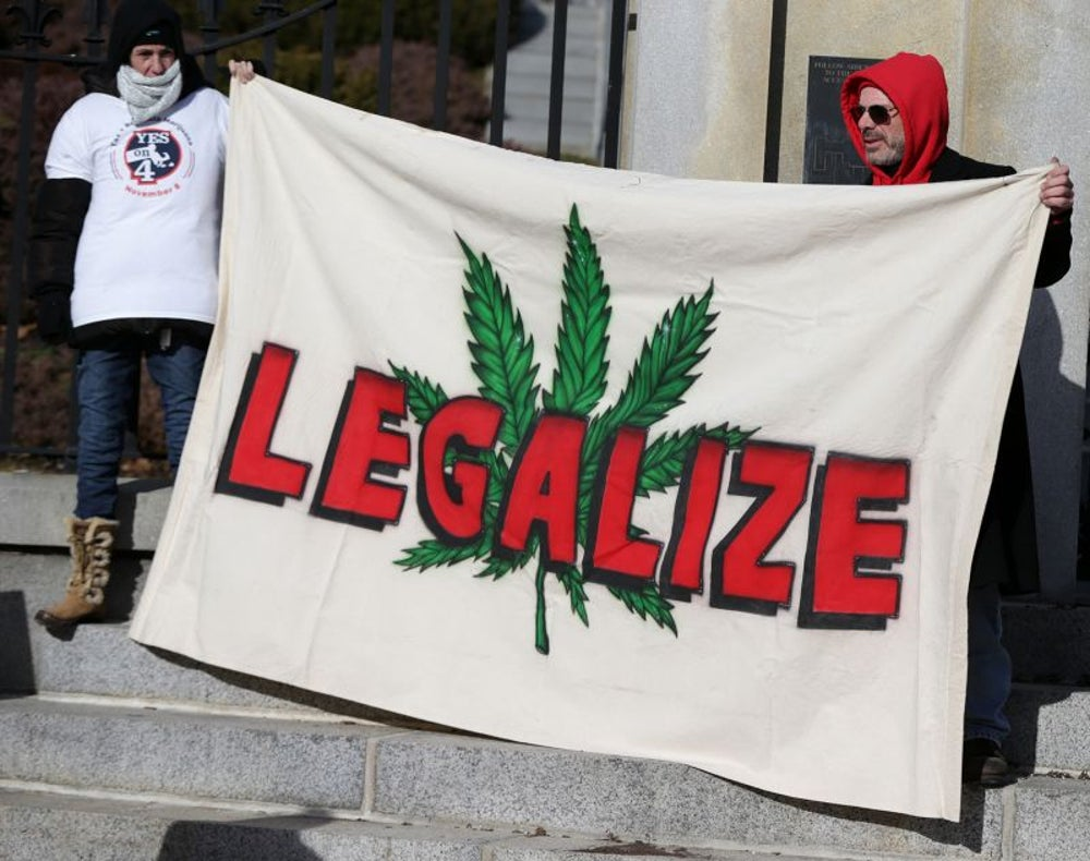 Four states legalize recreational marijuana in 2016.