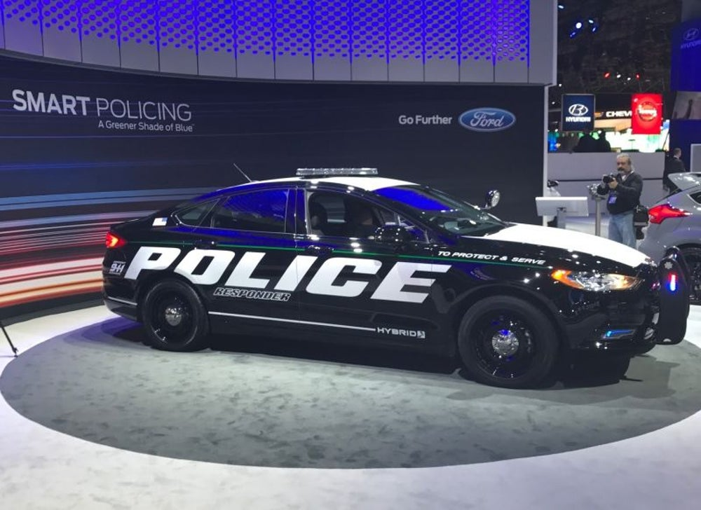 Ford Fusion hybrid police chaser